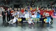 Spain celebrates victory after winning the final of the UEFA Futsal Euro 2012 against Russia